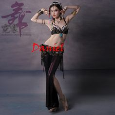 43e6d5fcf Belly Dance Tribe Costume Beading Performance Belly Clothing set for Dancer  Belly Dance Professional Tribe Costumes Bra+Belt+Pants