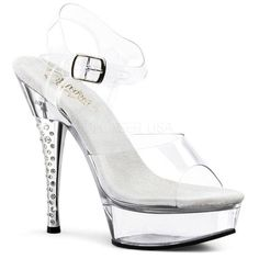 Pleaser Sexy Shoes Sexy Clear Stripper Shoes - Pleaser Pole Dancing Sexy Shoes with 5 Inch Chrome Stiletto Heel, Clear Mini Platforms, Clear Toe Strap Sexy Sandals with Ankle Straps Pleaser Shoes. Embellished Heels, Rhinestone Heels, Sexy Heels, Stiletto Heels, Shoes Heels, Sexy Boots, Prom Heels, White Heels, Stilettos