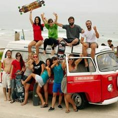 one day i will cruz the world with nothing but a VW and a longboard
