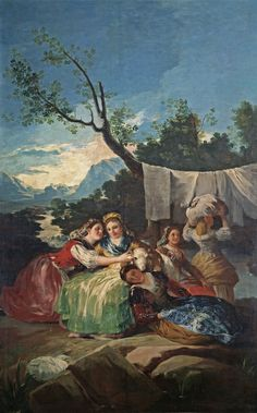 "Francisco de Goya: ""Las lavanderas"". Oil on canvas, 257,5 x 166 cm, 1780. Museo Nacional del Prado, Madrid, Spain"