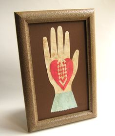 Heart in Hand Love Token  Early American by SimpleJoysPaperie, $50.00