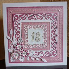 Sue Wilson's New York Collection - Union Square Die Sue Wilson, 18th Birthday Cards, Handmade Birthday Cards, Hand Made Greeting Cards, Making Greeting Cards, Card Making Inspiration, Making Ideas, Hexagon Cards, Shabby Chic Cards