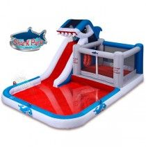 Shark Park MEGA 10-in-1 Inflatable Play Park By Blast Zone