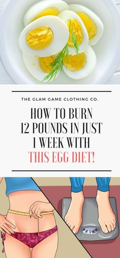 How To Burn 12 Pounds In Just 1 Week With This Egg Diet!