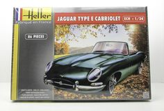 Heller 80719 Jaguar Type E Cabriolet New Car Plastic Model Kit 1/24
