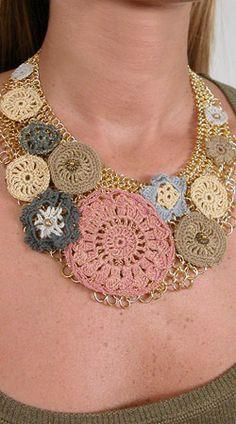 crochet, necklace