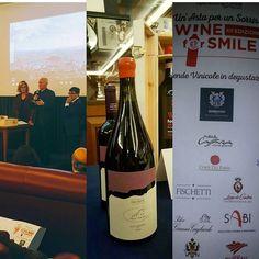 A wine for a simile. Circolo Canottieri Aniene. Thanks to president Versace Santo and #operationsmile. #greatexperience #smile #wine #rome #versace @agatapatriziasaccone @taomoda_taoawards #group #christmas2016 #unforgettableexperience #like4like