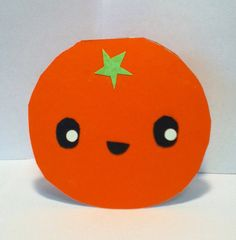 Handmade Kawaii Orange Card  Cardstock by justcreativecards, $3.50