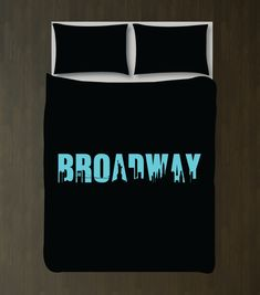 You eat, sleep and breathe theatre, so why not dream about it under your new Broadway themed duvet cover?  It will look perfect in any thespian's bedroom or dorm room.  You can customize it with the colors of your choice or choose the black and aqua colors shown.  This unique, custom bedding set would make the perfect Christmas present or birthday gift for any boy or girl who loves music theatre or theatre.