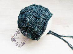 133 PDF Knitting Pattern Baby bonnet  Newborn  baby hat