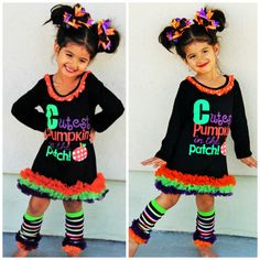 Have your princess the star of the show in this adorable Cutest Pumpkin In the Patch ruffle tutu dress! Dress is made with high quality
