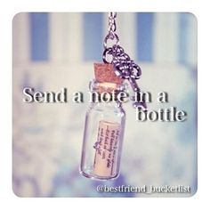 Send a message in a bottle.. maybe we can throw it in the on post pond?