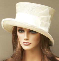 New Ladies Womens Church, Derby Hat. Cream, Ivory, Formal Straw Cloche Dress Hat