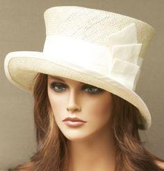 New Ladies Womens Church, Derby Hat. Cream, Ivory, Formal Straw Cloche Dress Hat