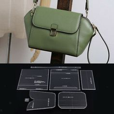 LEATHER CRAFT CLEAR Acrylic shoulder bag handbag Pattern Stencil Template XKB-73 - $28.00   PicClick