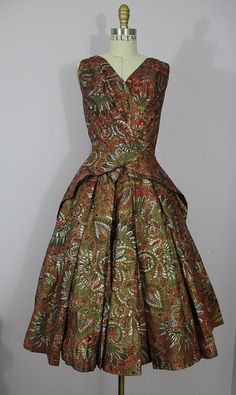 1950s Alfred Shaheen Dress
