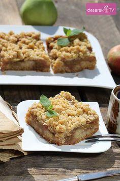 Szarlotka przepis z kruszonką Banana Bread, Food And Drink, Apple Cakes, Sweets, Baking, Breakfast, Recipes, Smoothie, Polish