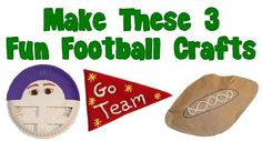 3 Fun Football Crafts - Even if you aren't a football fan, you will have a great time making one of these easy football crafts.