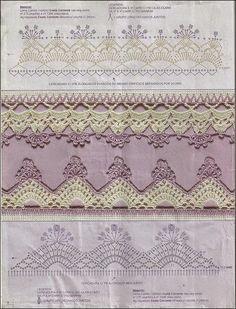 10 patrones de puntillas decorativas   Todo crochet