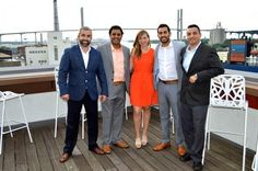 From Risk to Reward: Savannah Morning News feature on The Cotton Sail Hotel in Savannah, GA. (L-R): Inan Isik, general manager at The Cotton Sail Hotel; Riki Patel, vice president at HOS Management; Chantal Gloor, vice president of project management at Oceanside Resorts; Kris Patel, chief financial officer at HOS Management; AJ Asci, general manager at Top Deck.