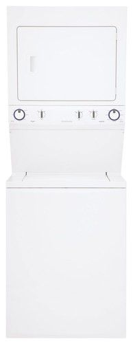 Frigidaire - 3.8 Cu. Ft. 8-Cycle Washer and 5.5 Cu. Ft. 4-Cycle Dryer Electric Laundry Center - Classic White - Larger Front
