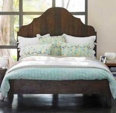 Totally adore this headboard. I think it would be a fun DIY project! {Gustavian Vintage Bed : Remodelista - $1,700}