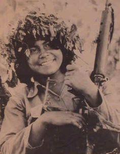 Woman FMLN fighter - El Salvador.