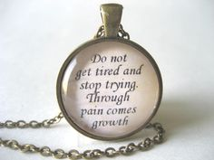Scripture Bible Verse Necklace Galatians 6:9 Do Not Get Tired and Stop Trying