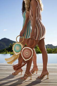 Crochet Fabric, Crochet Shirt, Knit Crochet, Crotchet, Crochet Handbags, Crochet Purses, Crochet Stitches Patterns, Crochet Designs, Beach Accessories