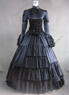 Victorian corset dress -- Modern steampunk dress but I like the silhouette.