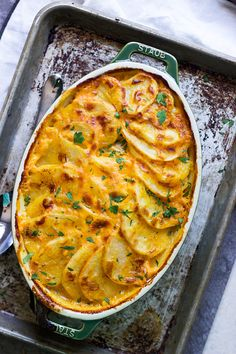 Creamy Pumpkin and Cheddar Scalloped Potatoes