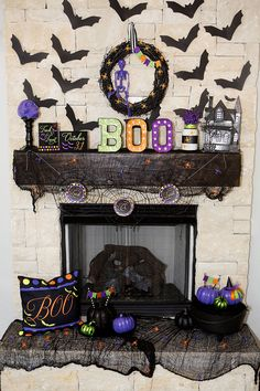 Boo Halloween Marquee by Lillian Hope Designs using @heidiswapp's Marquee Love letters!