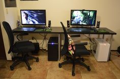 His and hers battlestations
