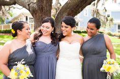 gray + yellow   Laura Yang #wedding