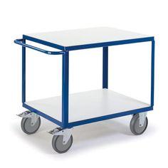GTARDO.DE:  Tischwagen 2 Ladeflächen, Tragkraft 600 kg, Ladefläche 1000x700 mm, Maße 1150x700 mm 480,00 €
