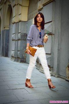 Beyaz Pantolon Kombinleri