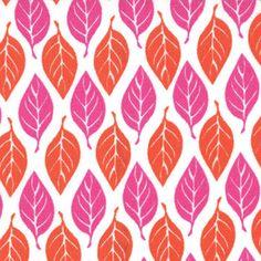 Terrain Fabric by Kate Spain Leaves Bloom