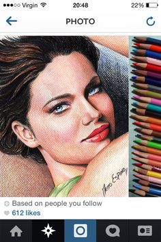 Coloured pencil  Textured surface
