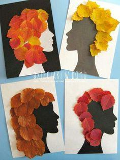 Capelli di foglie