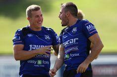 Trent Hodkinson and Josh Reynolds - Canterbury Bulldogs Training Session