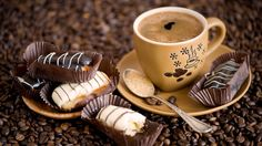 Download wallpaper coffee, cup, food, anna verdina, food resolution 1366x768