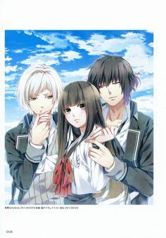 Mikoto Kuga,Itsuki Kagami and Nijou Sakuya All Anime, Anime Love, Anime Guys, Manga Art, Anime Manga, American Cartoons, Funny Anime Pics, Image Manga, Manga Couple