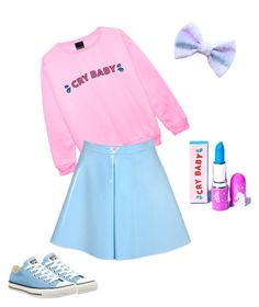 """Melanie Martinez"" by avalon-curtin ❤ liked on Polyvore featuring Converse and Lime Crime"