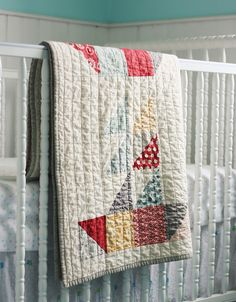 Sailboat quilt.  Straight lines are an Inch and a half apart, I think... going against the direction of the quilt