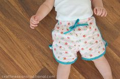 craftiness is not optional: shorts for Ava (and a pattern giveaway!)
