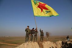#SYRIA and IRAQ NEWS: #Kobane ON THE VERGE OF LIBERATION - Today, Monday 26th January 2015, the Kurds are within a whisker of victory at Kobane, forcing the Islamic State to retreat. Also, in southern Daraa province the Opposition have inflicted massive defeats on #Assad at several of his bases. *For More #Iraq and #Syria News...* http://www.petercliffordonline.com/syria-iraq-news-4 PIC: The Kurds Plant Their Flag at the Recaptured Eastern Edge of Kobane: