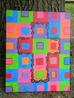 """One of my paintings, """"Cassie's Cross"""" Kids Art Class, Art For Kids, To My Daughter, Kids Rugs, Crafty, Diy, Paintings, Spaces, Inspiration"""