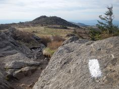 Day 3 -- The Appalachian Trail crosses open, rocky balds in the Grayson Highlands.