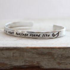 Image of Music is What Feelings Sound Like bracelet