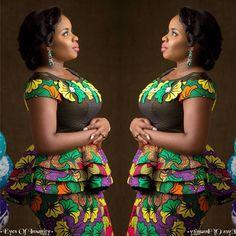 Creative Peplum Ankara Blouse Styles for Ladies.Creative Peplum Ankara Blouse Styles for Ladies Ankara Peplum Tops, Ankara Skirt And Blouse, Ankara Dress Styles, Blouse Styles, Peplum Skirts, Ankara Gowns, Peplum Blouse, Latest African Fashion Dresses, African Print Fashion